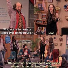 Sleepover at Sikowitz's Stupid Funny Memes, Funny Relatable Memes, Funny Fails, Hilarious, Victorious Nickelodeon, Icarly And Victorious, Liz Gilles, Dear Best Friend, Nickelodeon Shows