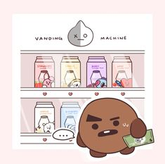 What should he choose now ? Wait...... he can't drink milk >v<