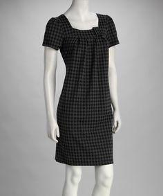 Black & Gray Diamond Buckle Dress by Voir Voir