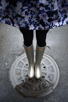 Silver slushies! #wellies #nyc #raingear @hunterboots