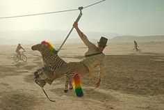Take a ride on the artistic wild side.  Burning Man.