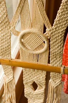 vintage macrame window hanging. by atreeaflower, via Flickr