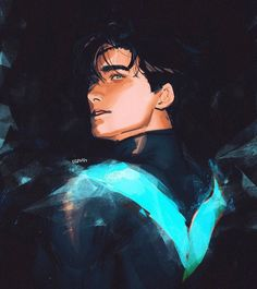 Nightwing/dick grayson♡♡♡♡♡♡♡♡♡♡♡ Credit to the artists Nightwing, Batgirl, Comic Character, Character Design, Anime Bebe, Richard Grayson, Arte Dc Comics, Marvel Comics, Univers Dc