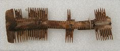 Double-Sided Comb Date: 7th century Geography: Made in Niederbreisig, Germany Culture: Frankish Medium: Bone, iron pins Dimensions: Overall: 4 13/16 x 1 5/8 x 1/2 in. (12.3 x 4.1 x 1.2 cm)