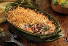 This hearty Pork Chop and Hash Brown Shepherd's Pie is perfect for any Fall or Winter meal. Grab a spoon and eat up! Find more recipes at www.eatpork.org.