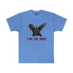 I Am The Night Black Bat Cat Funny Halloween Costume Tagless T-Shirt