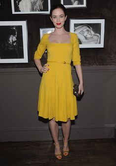Emily Blunt attends the ELIE SAAB private dinner at Crown in New York City.