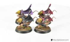 Skaven team for Blood bowl. Runners. Painted by Renton.