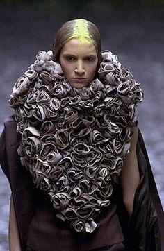 Alexander McQueen Fall 2000, 'Eshu'.