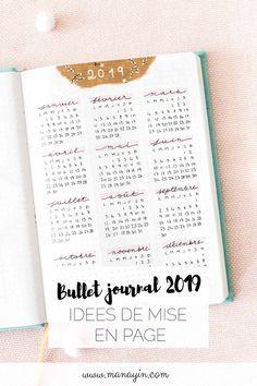Bullet journal 2019 - Idées de mise en page et collections - Best Pins Live