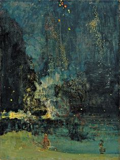 Nocturne in Black and Gold – The Falling Rocket (1874)