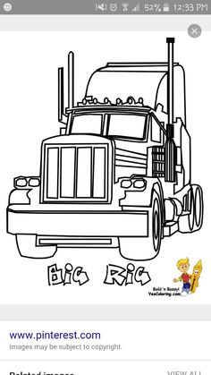 mack truck coloring pages.html
