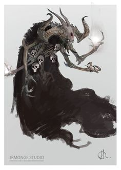 Lucion - researches character design by jean-baptiste monge monster design, cthulhu Monster Concept Art, Fantasy Monster, Monster Art, Shadow Monster, Creature Concept Art, Creature Design, Arte Horror, Horror Art, Fantasy Creatures