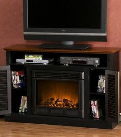 The built-in electric fireplace will instantly warm any room, while the classic cottage styling and all the right storage spaces make the Antebellum media cabinet an instant crowd pleaser.