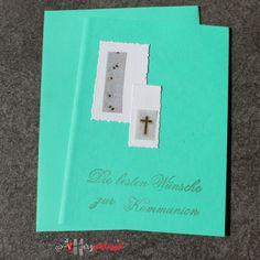 Herzschlüssel: Kommunionkarten, Stampin Up, Alexandra Renke, Big Shot, Stempel, Memory Box