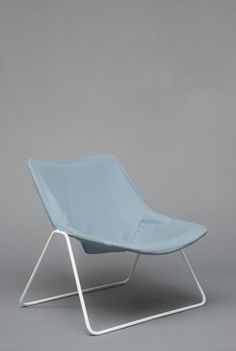 Available for sale from Galerie Pascal Cuisinier, Pierre Guariche, Armchair G1 (1953), Lacquered metal and fabric, 75 × 62 × 75 cm