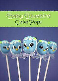 Blue Bird Cake Pops by Bakerella, via Flickr