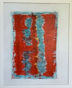 O Cupido - Abstrato, acrílico, canvas, espátula, paspatur (40x50cm), de Rodrigo Maria
