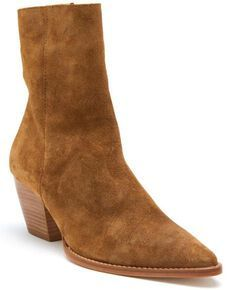 Tan Ankle Boots, Mid Calf Boots, Fall Fashion Outfits, Fashion Heels, Booties Outfit, Winter Shoes For Women, Short Boots, Suede Booties, Shoes Heels