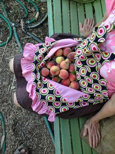 The Simple Farm {blog} - the best way to harvest your fruit...an apron!