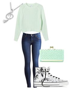 """Going to the Movies"" by angie-greece-villarreal ❤ liked on Polyvore featuring Joules, Converse, MaBelle and Monki"