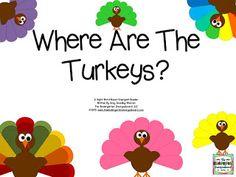 Turkey emergent reader. Thanksgiving emergent reader.