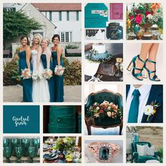 Quetzal Green, Pantone 18-5025, Hex 065D70 #colorinspiration #weddingcolor #quetzalgreenwedding Green Wedding, Wedding Colors, Wedding Ideas, Lime Punch, Red Pear, Little Boy Blue, Bridesmaid Dresses, Wedding Dresses, Fashion Colours