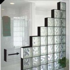 Decorate Your House with Glass Blocks - glass industry news Shower Remodel, Bath Remodel, Home Room Design, Bathroom Interior Design, Bar Dining Table, Glass Block Shower, Glass Blocks Wall, Door Dividers, Glass Brick