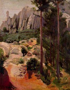 Vista de Montserrat. 1896. Santiago Rusiñol.