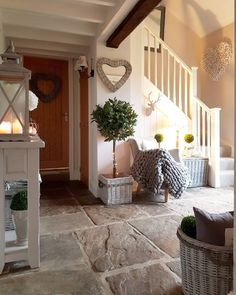and even more hearts in our country house . - Hearts … hearts … and more hearts in our country house … converted barn. Country Hallway, Hallway Decorating, Country House, Converted Barn, Home, Country Cottage, House Interior, Cottage Interiors, Barn Interior