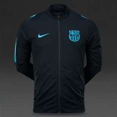 Nike FC Barcelona Revolution Knit Tracksuit - Black//Light Current Blue