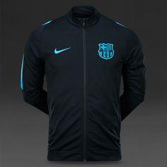 Nike FC Barcelona Revolution Knit Tracksuit - Black  Light Current Blue bfc86969c2b