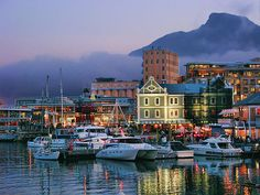 Victoria & Alfred Waterfront, Cape Town, South Africa by Places To Travel, Places To See, V&a Waterfront, Cape Town South Africa, Collor, The Beautiful Country, Most Beautiful Cities, Dream Vacations, Scenery
