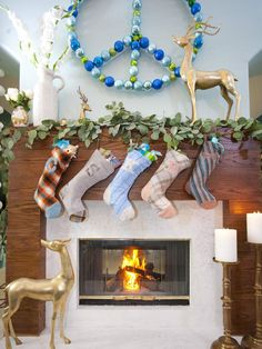 Pretty Peaceful - 20 Glowing Holiday Mantels on HGTV