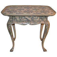 18th Century Louis XVI Tiled Table | From a unique collection of antique and modern end tables at https://www.1stdibs.com/furniture/tables/end-tables/
