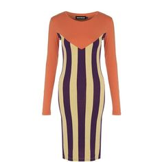 House of Holland Striped Jersey Dress ($205) ❤ liked on Polyvore