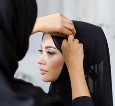 Getting ready for a #hijab shoot with @hazanahstore photo by @wwags mua @beautifulsistersmua #hijabmodel #hijabfashion