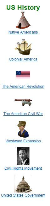 Great site with lots of resources for US History for Kids