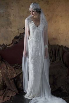 Vintage Wedding Dresses 2016 Wedding Dresses Eliza Jane Howell 'The Grand Opera' Collection - I'm blown away by today's theatrical-inspired wedding dress feature. Gill Harvey has brought together her years of experience to create Eliza Jane Howell 2016 Wedding Dresses, Bridal Dresses, Wedding Gowns, Bridal Veils, Wedding Veil, Prom Dresses, Dresses 2016, Vestidos Vintage, Vintage Dresses