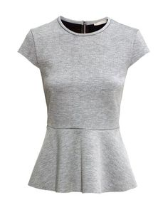 Buy H&M Women's Grey Peplum Top In Scuba Fabric. Scuba Fabric, H&m Women, Grey Jeans, H&m Tops, Fashion Online, Girl Fashion, Outfits, My Style, Clothes