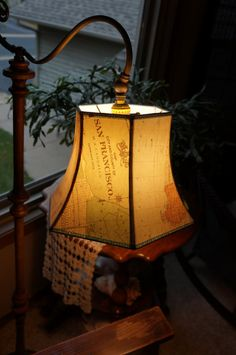 Bridge lamp shade uno fitting map lamp shade by lightreading, $42.00
