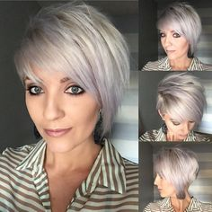 : Really Trendy Asymmetrical Pixie Cuts - Love this Hair Longer Pixie Haircut, Short Pixie Haircuts, Layered Haircuts, Pixie Hairstyles, Short Hair Cuts, Short Hair Styles, Natural Hair Styles, Bob Haircuts, Corte Pixie