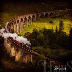 Linea de tren de la montaña del oeste. | #Escocia #Scotland