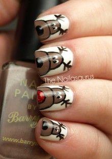 Reindeer nails. #holidays