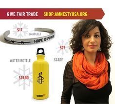 Shop the official Amnesty International USA Store for ethically made t-shirts, hoodies, hats, bags and bandanas. Usa Store, How To Make Tshirts, Pretty Cool, Fair Trade, Delivery, Friends, Awesome, Holiday, Fabric