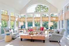 modern interiors with big windows