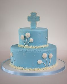Boy Baptism Cake - Dandelions by Cakes by Maylene, via Flickr