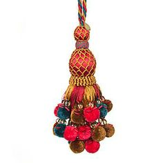 Pom Pom Festoonery Tassel - Teal ... MacKenzie-Childs... Just eye candy... but many gorgeous creations! .... http://www.mackenzie-childs.com/New/Gifts/Pom+Pom+Festoonery+Tassel+-+Teal.axd#