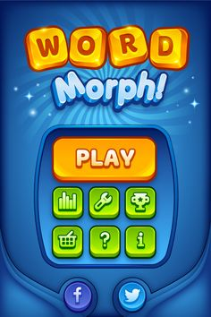 Dribbble - word_morph_splash_screen.png by Melissa Pohl