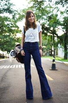 Really like these hippie styled flare jeans